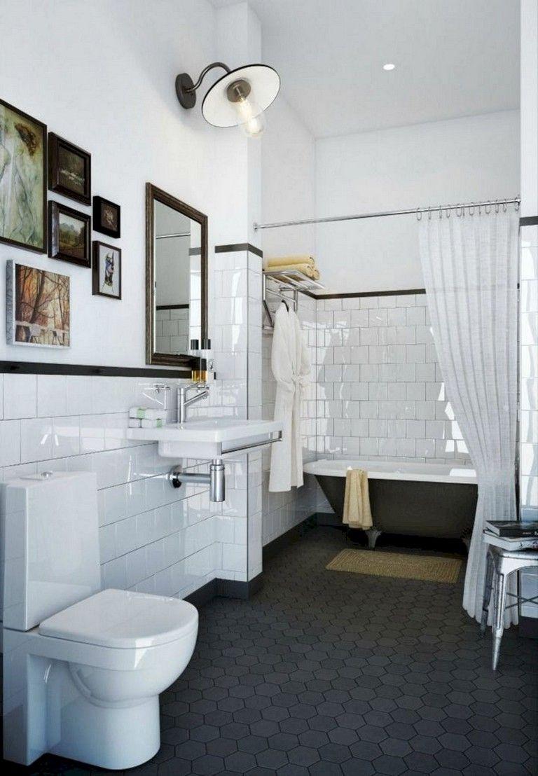 86 Lovely Modern Vintage Bathroom Decor Ideas Modern Vintage