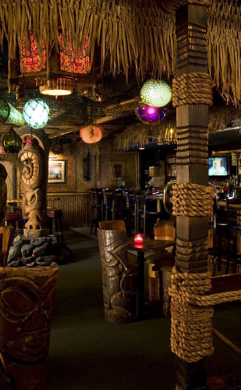 Tiki bar tiki decor tiki mug frankies tiki room for Tiki room decor