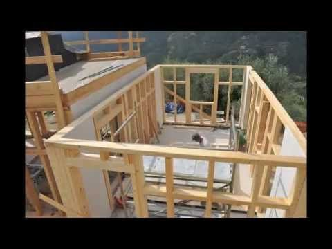 Montage maison ossature bois construction maison en bois for Montage maison bois