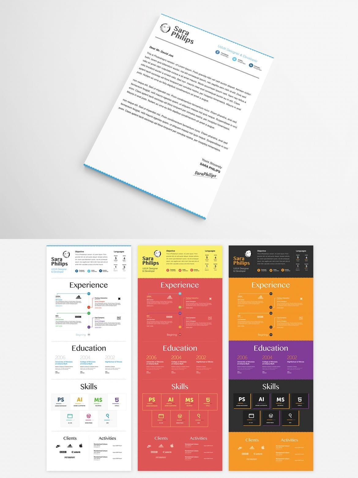 Premium Resume & Cover Letter Template — Adobe