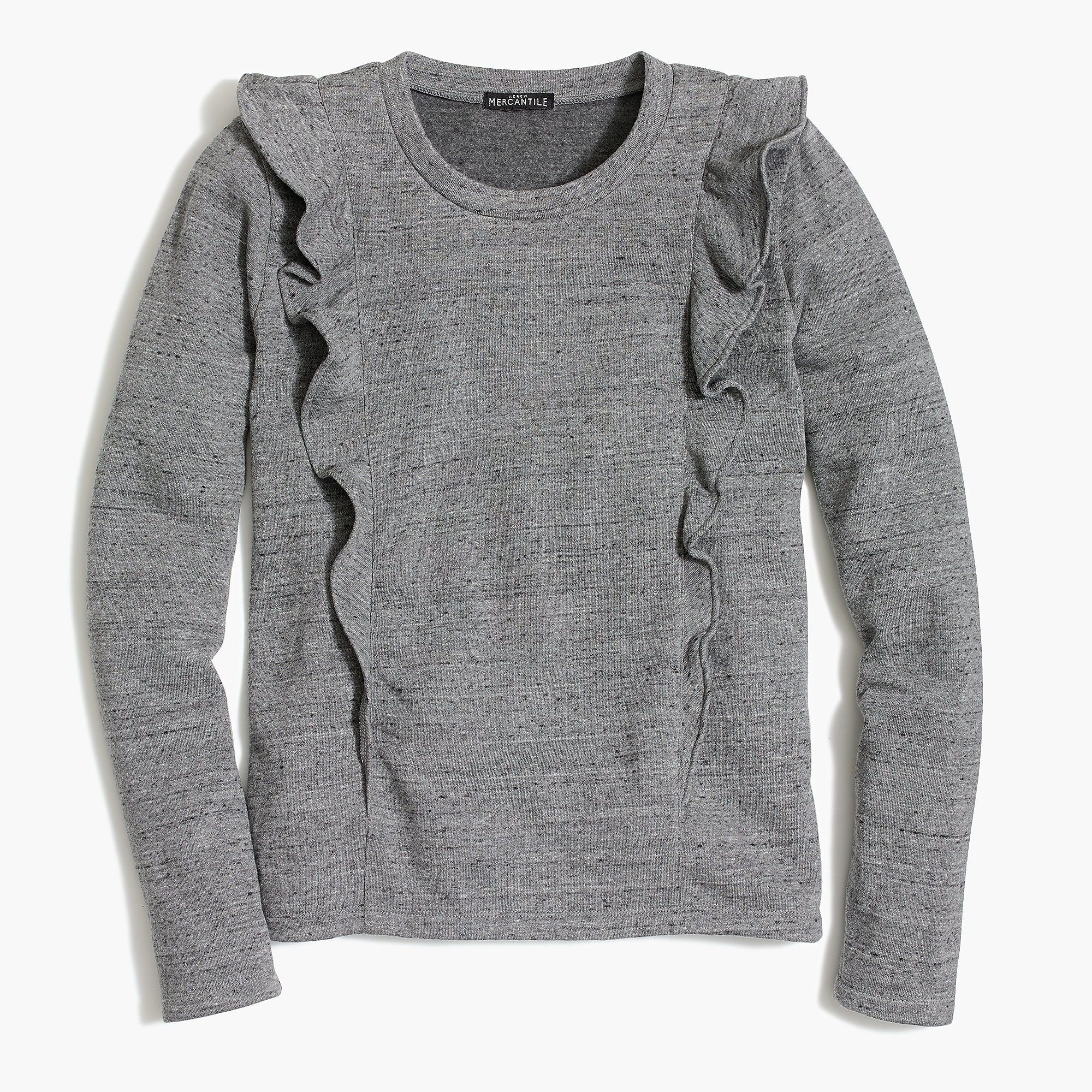 dfba17aac28 J.Crew - Ruffle-trimmed pullover
