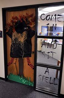 Office Door Decorating Contest Halloween Decorations Cubicle