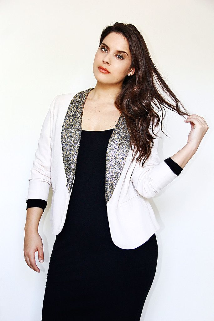 Jaime Adrienne Sequin plus size blazer - @Madison Plus 25% off ...