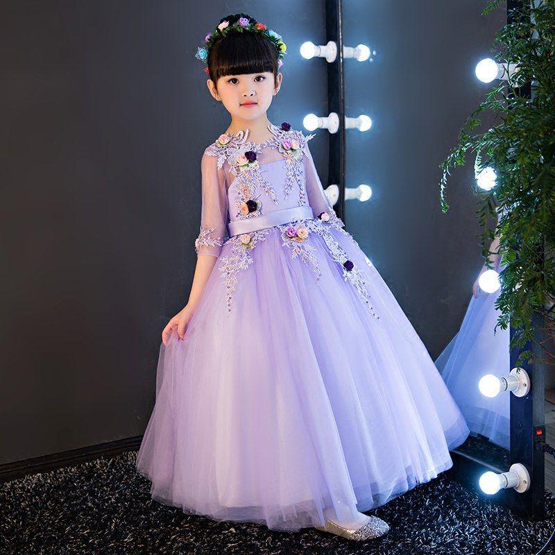 d4562a92c1d1 2019 European Luxury Champagne Baby Girls Clothes Girls Children ...