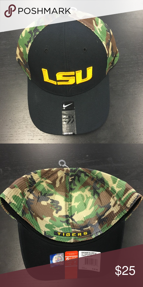 wholesale dealer 9f2d2 bd55c ... cheap lsu tigers nike camo hook flex fit hat lsu tigers nike camo hook  flex f8b02