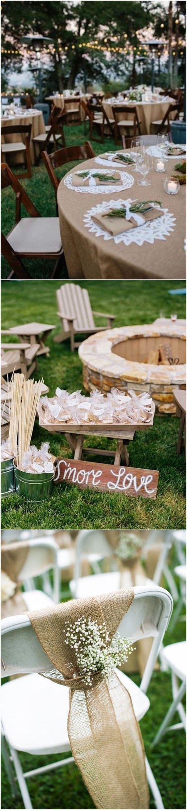 Wedding lawn decoration ideas   Rustic Backyard Wedding Decoration Ideas on A Budget  Backyard
