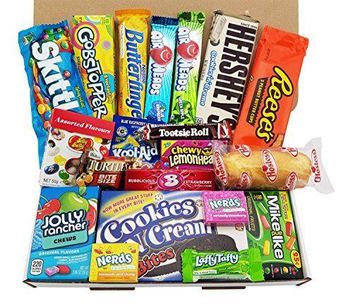 Heavenly Sweets Coffret Cadeau Moyen Americain Bonbons Chocolat Jelly Belly Beans Cadeau Noel Anniversaire Boite Carton Blanc Epicerie Au Meilleur Prix Li Sussigkeiten Box Sussigkeiten Amerikanische Sussigkeiten Box