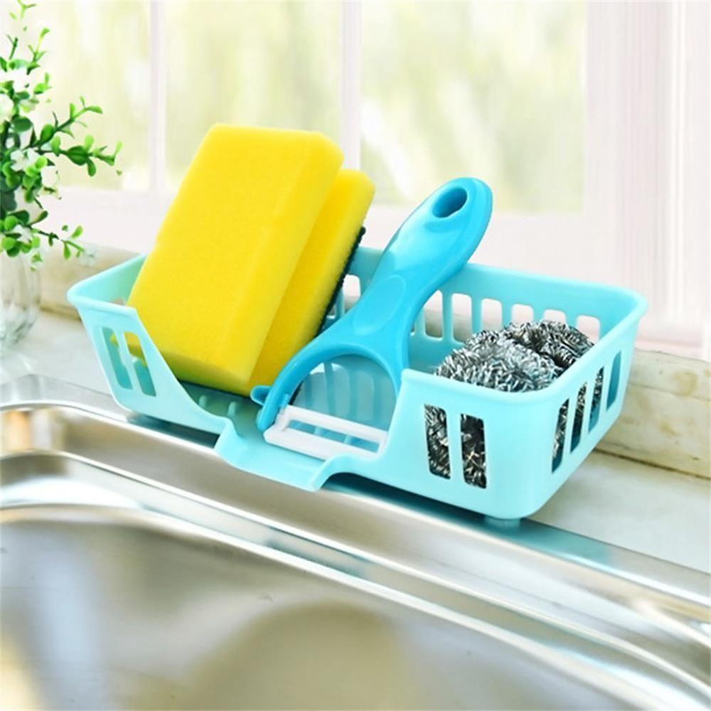 Multifunction Kitchen Sink Storage Dish washing Sponge Drain Shelf ...