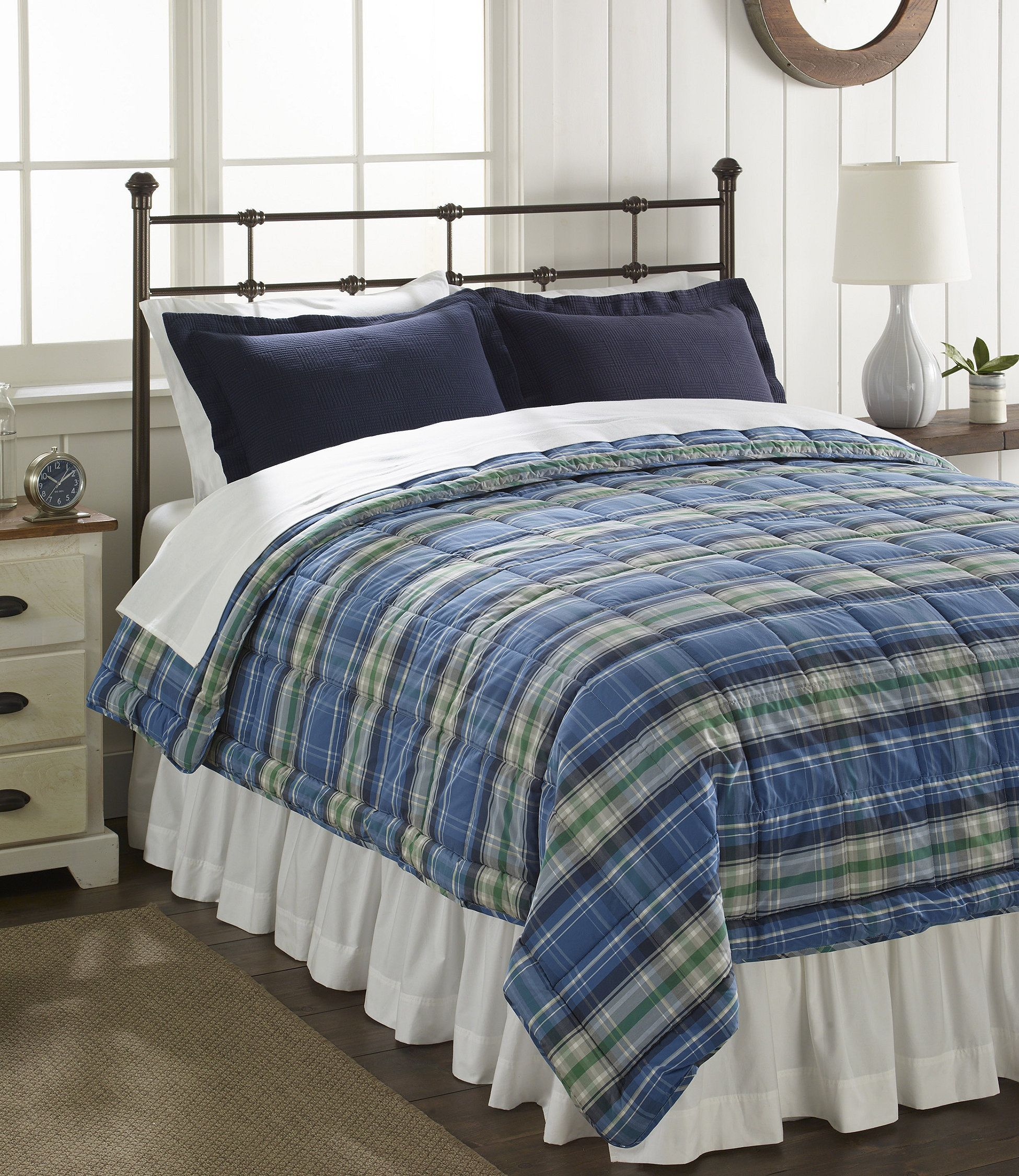 Ultrasoft Cotton Comforter, Plaid Farmhouse bedding sets