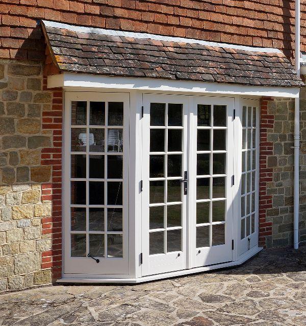 French Doors Exterior In Bay Window