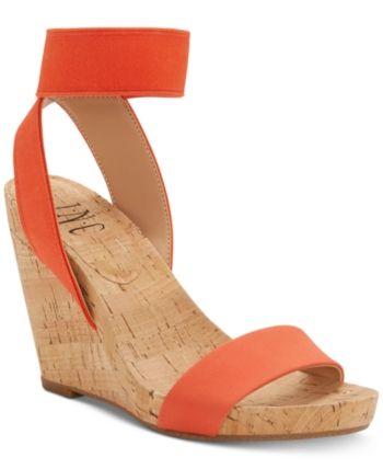 Inblu Slip On Wedge Sandals Padded Leather Insock Cross Strap Open Toe UK 2.5-8