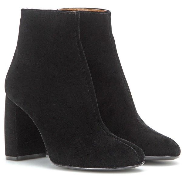 Stella mc cartney Velvet Ankle Boots