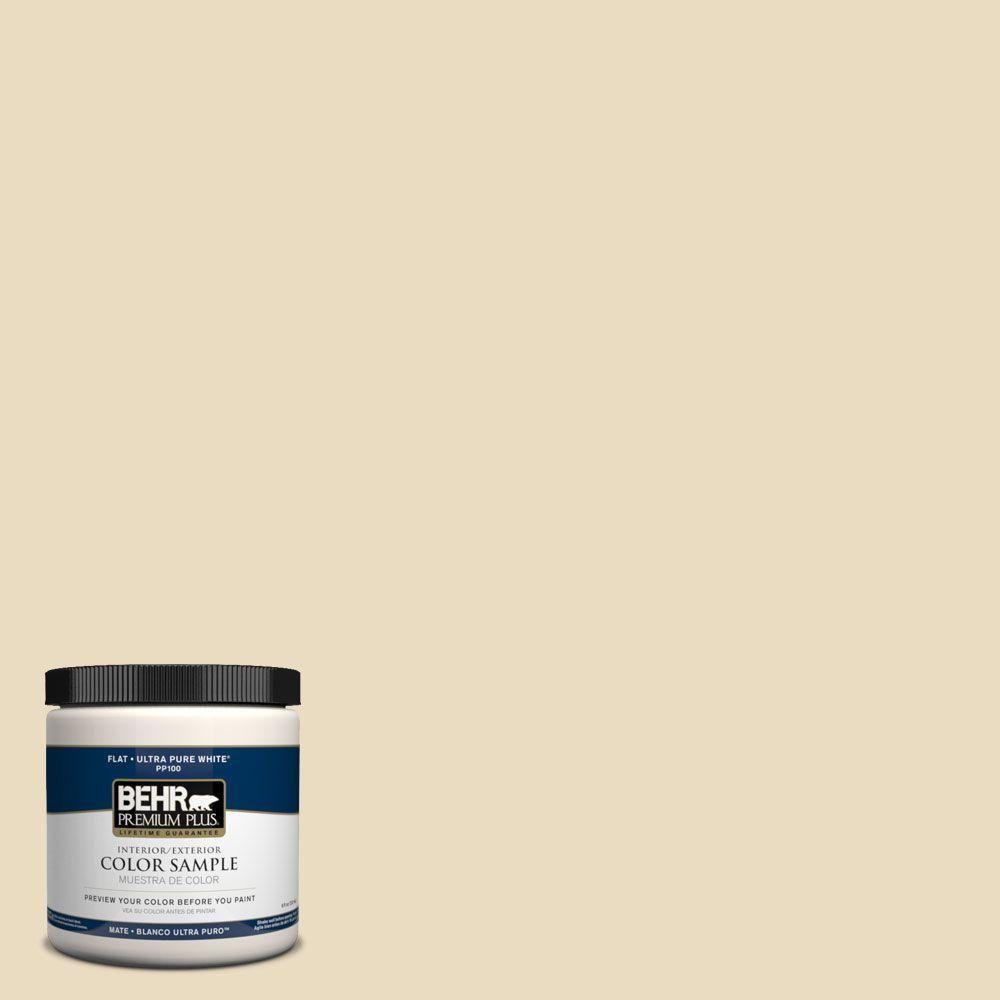 Paint Colors For Bedrooms Home Depot Behr Premium Plus 8 Oz 1822 Navajo White Interior Exterior Paint