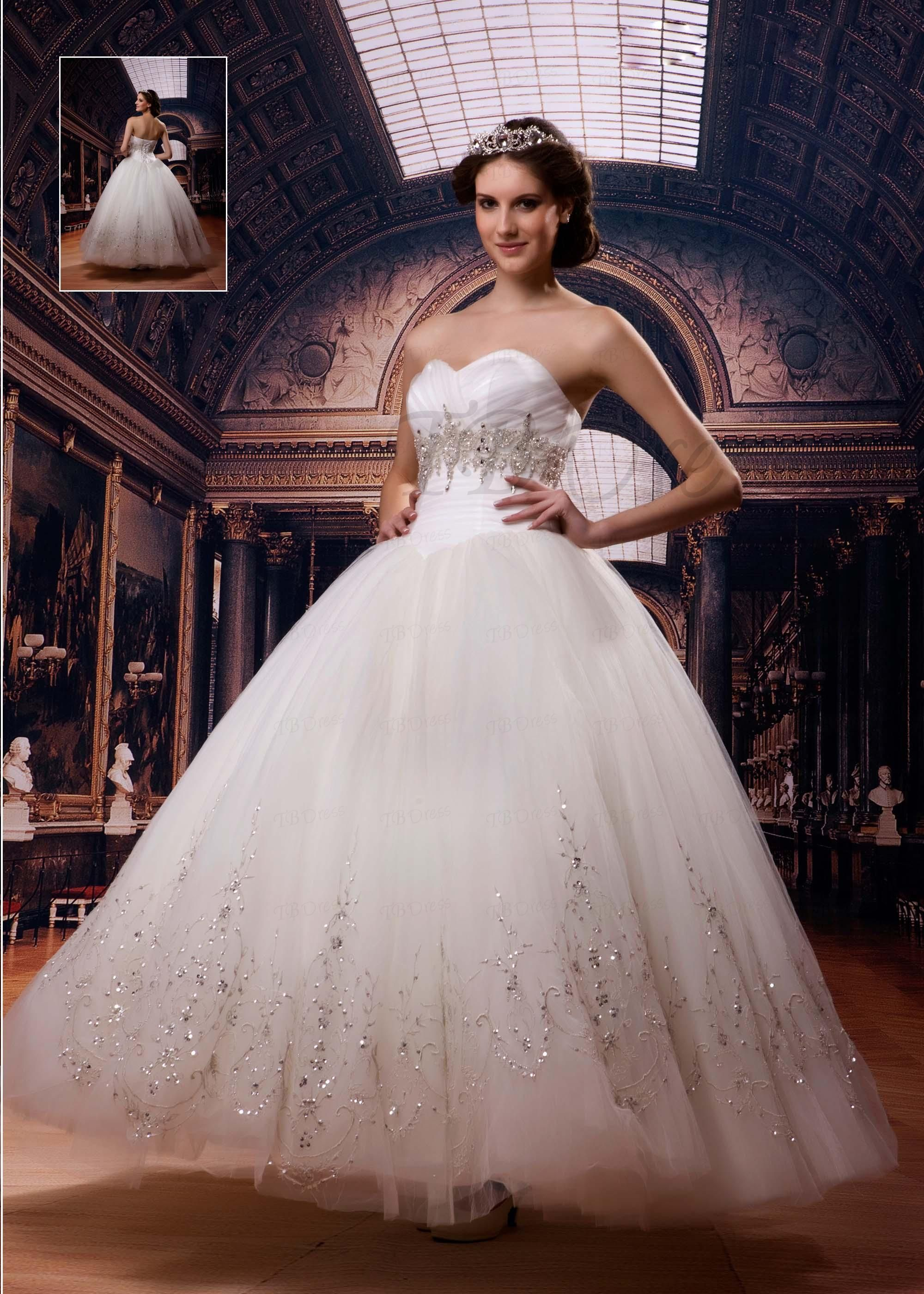 Sweetheart ball gown wedding dress  Ball Gown Sweetheart Ankle Length Beading Wedding Dress  Ball gowns