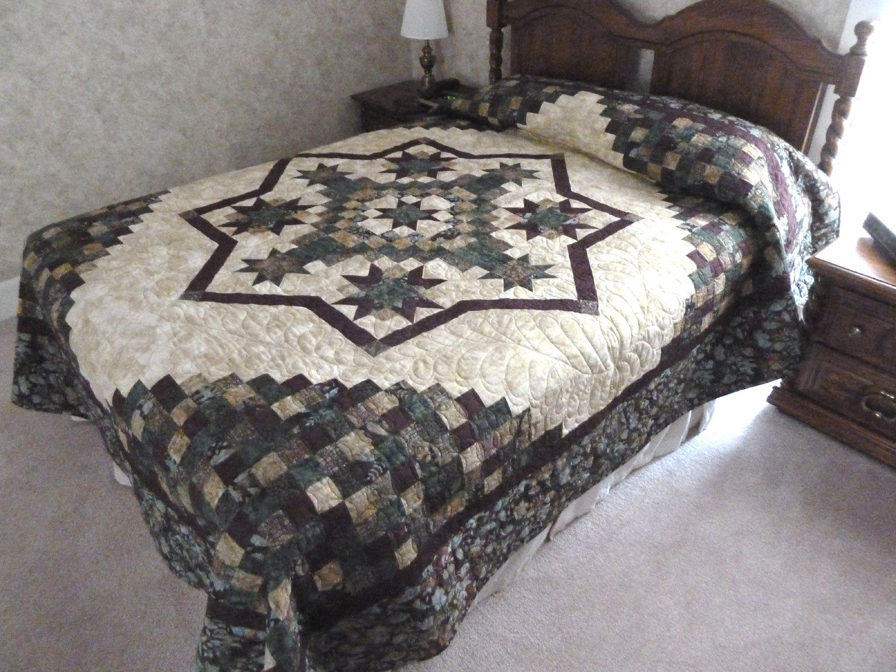 downloads queen size quilts pattern | Irish Mist Variation - Queen ... : irish mist quilt - Adamdwight.com