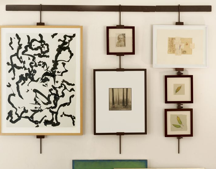 Artwork Hanging System Like This Better Than Flexible Wires That Let Paintings Tip Out Would Keep Them Straight