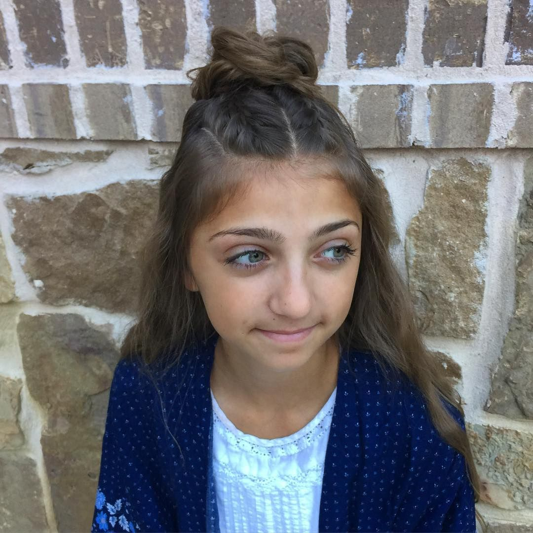 French braids into a messy half up hair pinterest french braid