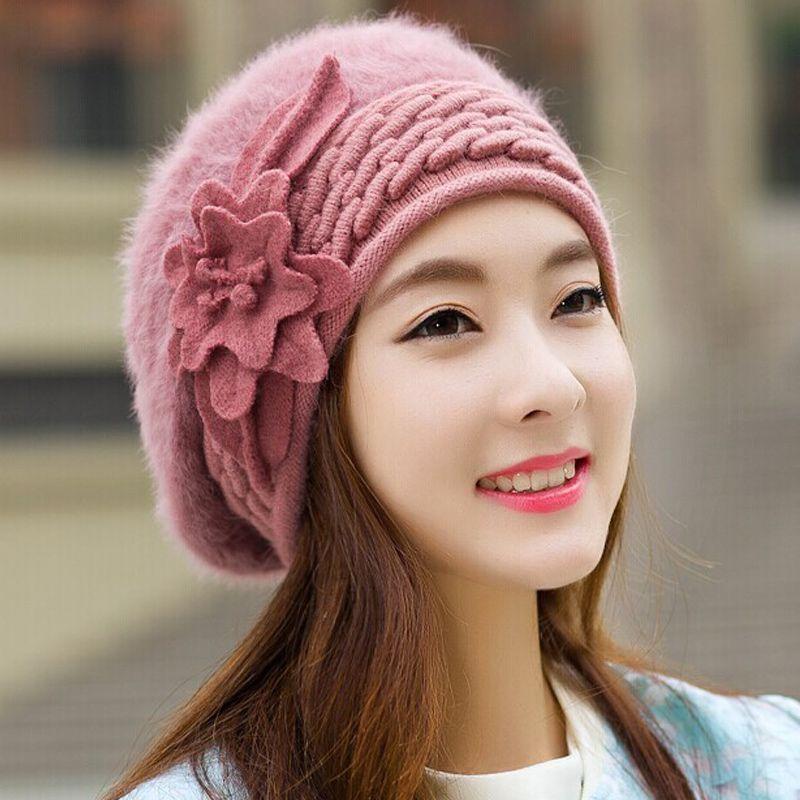 c201c113d97 2016 Beanies Women s Winter Hats For Women Knitted Bonnet Caps Winter  Women s Hats Brand Ski Wool Fur Sports Beanie Skullies Hat