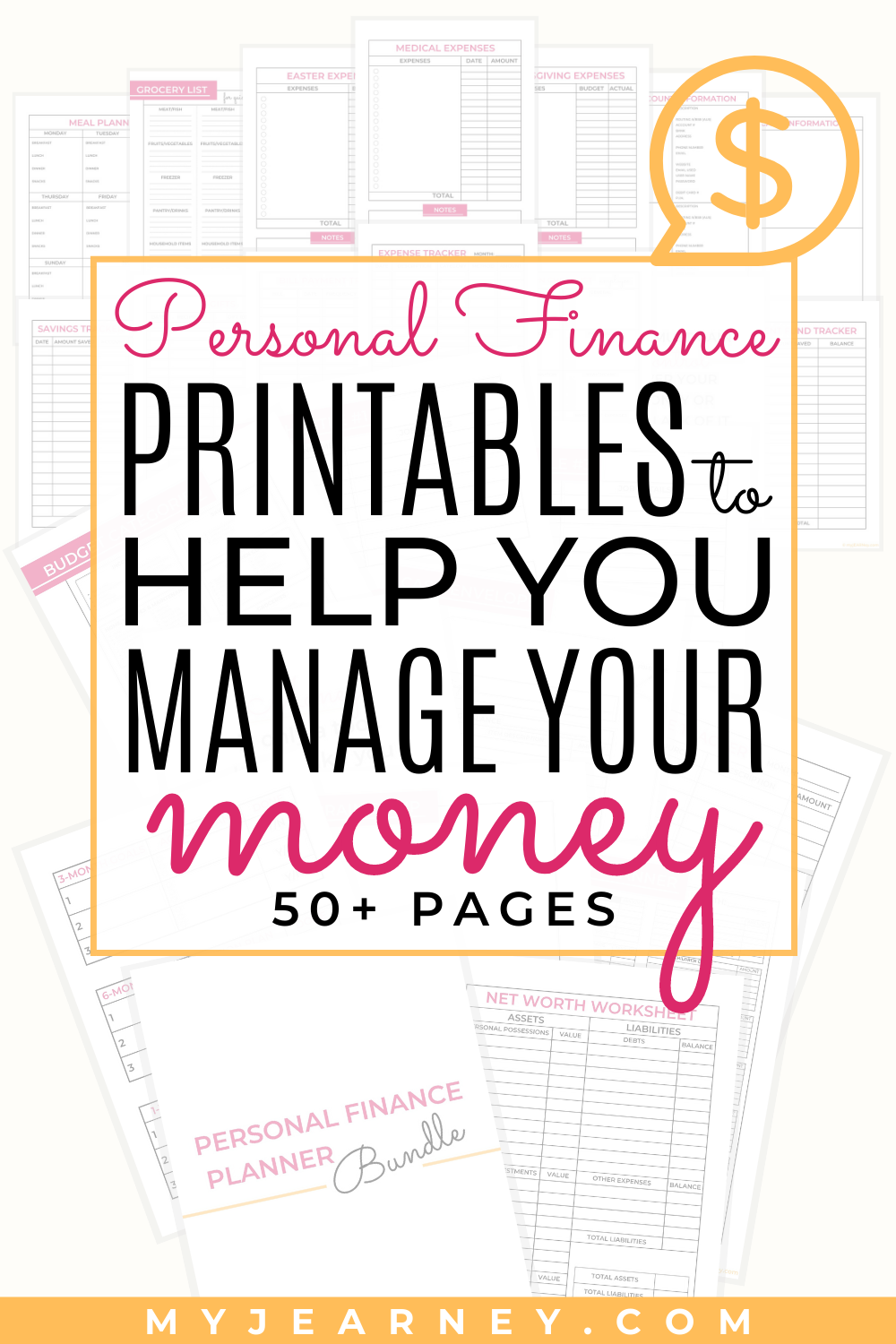 Personal Finance Planner Bundle 50 Pages In 2020 Personal Finance Finance Finance Planner