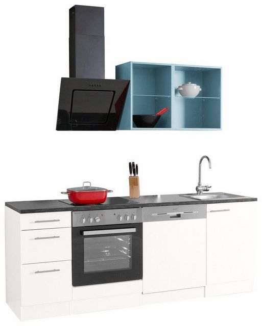 Küchenzeile »Mini«, mit EGeräten, Breite 210 cm