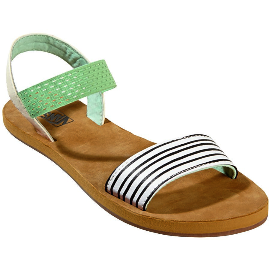 Womens Sandals Vans Marina (Just Stripes) Starfish/Gossamer Green