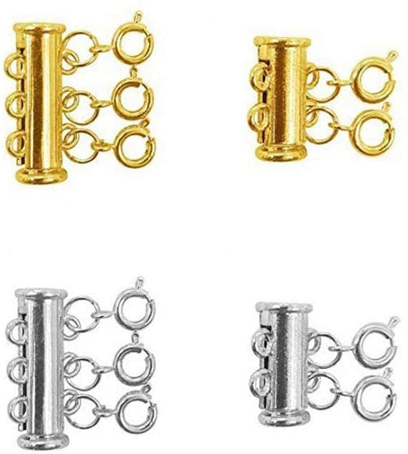 Amazon.com: Layered Necklace Spacer Clasps, 2/3 Strands