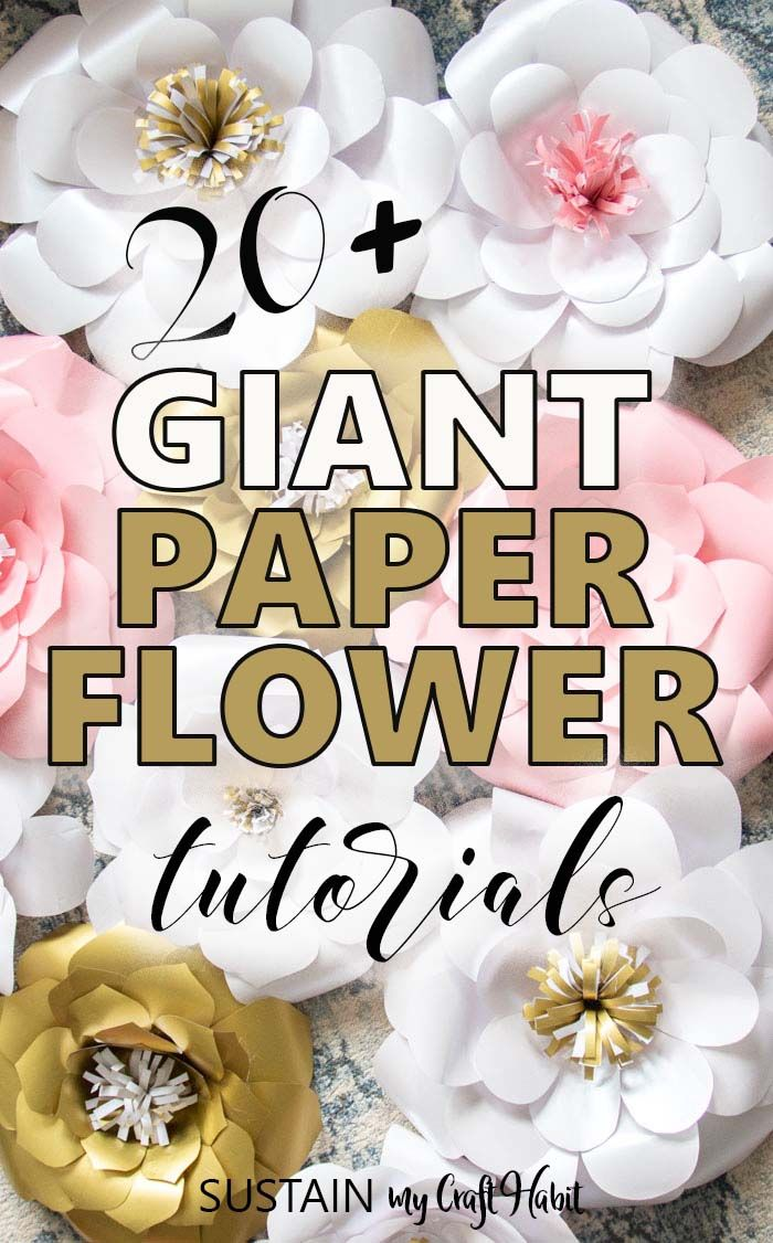 DIY Giant Paper Flowers #largepaperflowers