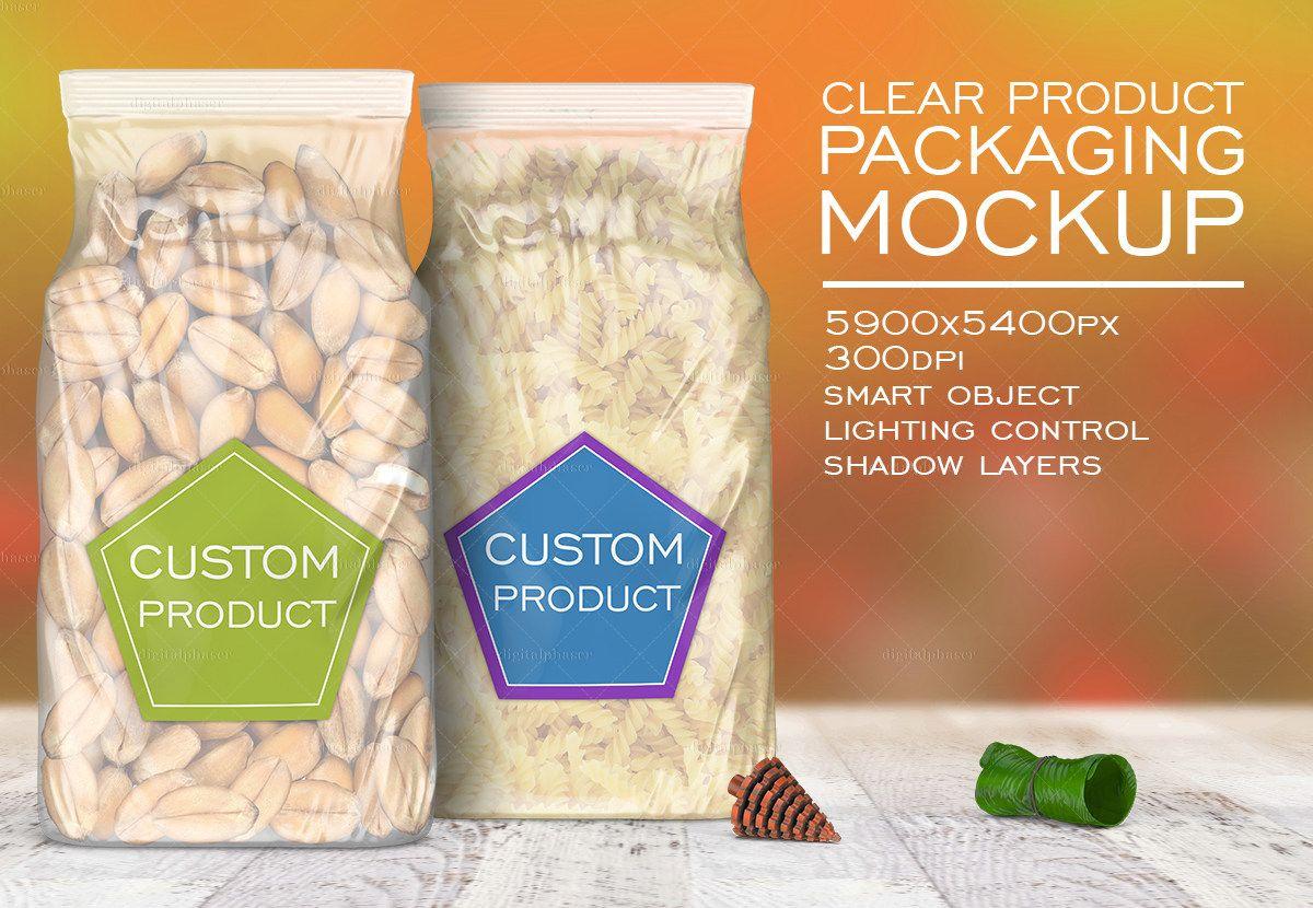 Download Clear Plastic Rice Bag Mockup