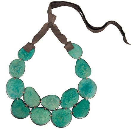 Andean Collection Tagua Bib Necklace $77