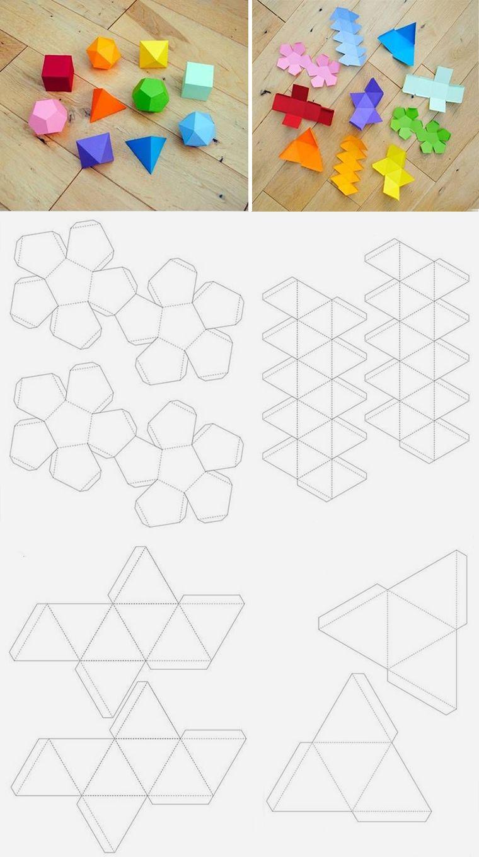 Поделки из геометрических фигур объемные своими руками фото 367