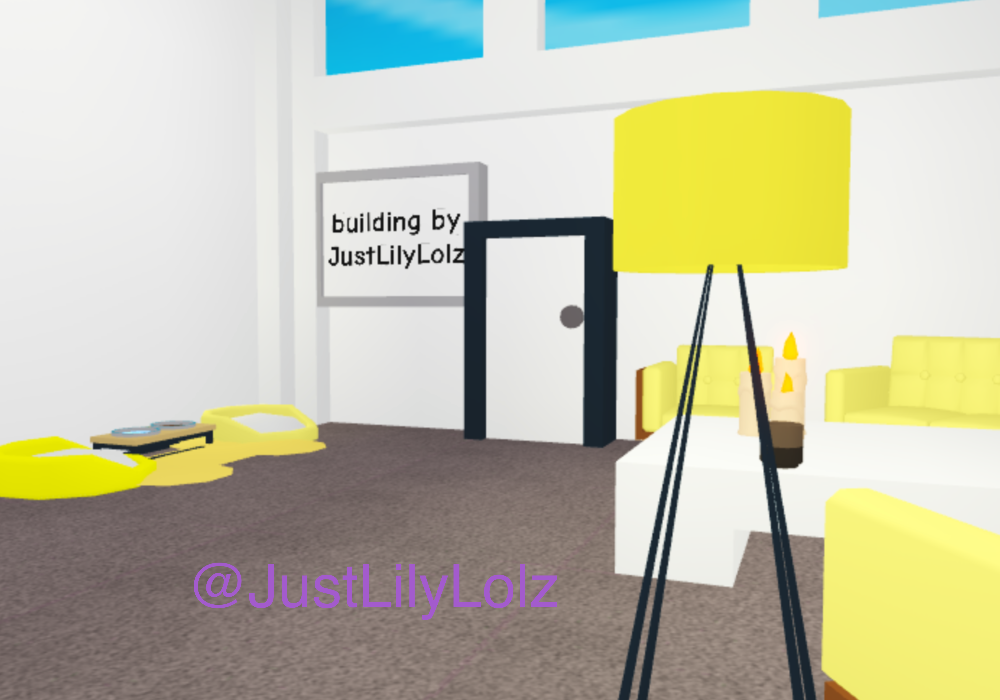 Yellow Entrance Room And Pet Area Adopt Me Builds In 2020 Pet Area Adoption Roblox