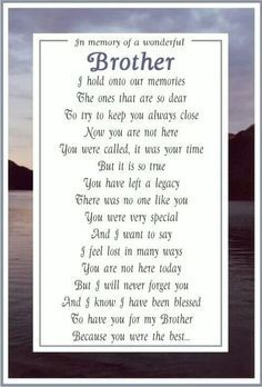 image result for memorial poems for deceased brother