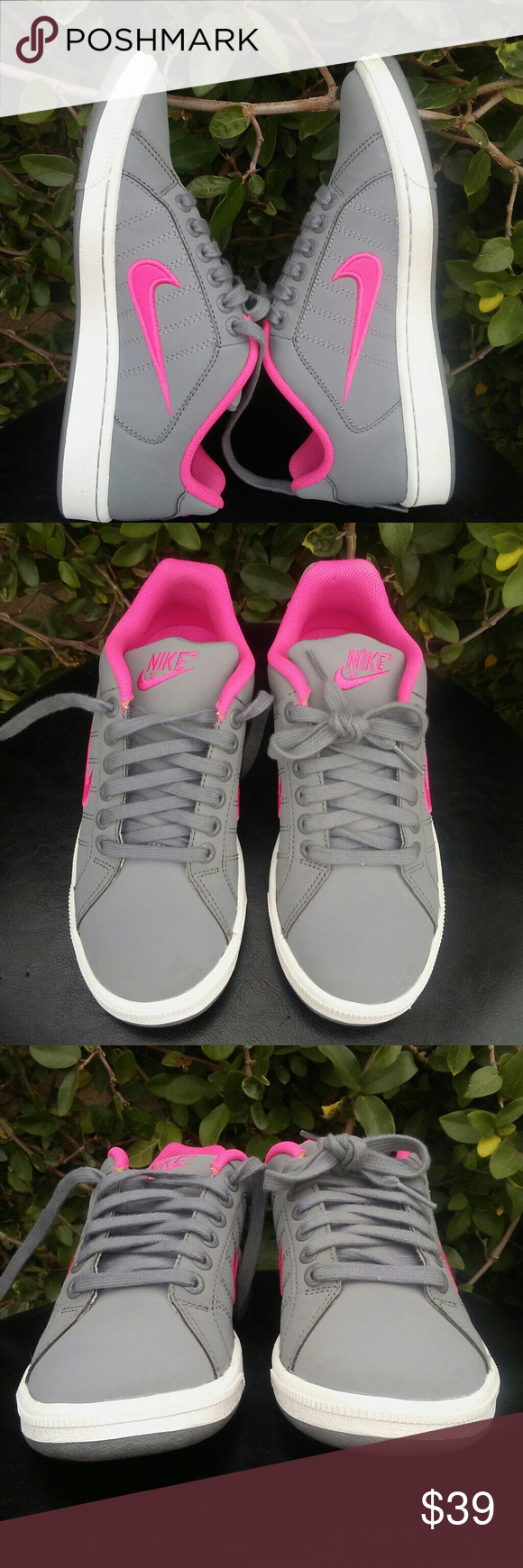 Shop Women's Nike Pink Gray size 7 Athletic Shoes at a discounted price at  Poshmark.