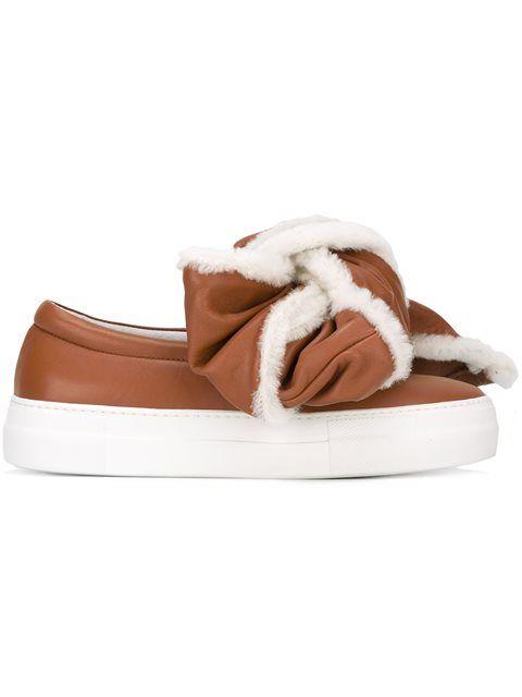 JOSHUA SANDERS Crumbled bow sneakers IUs1jewGy