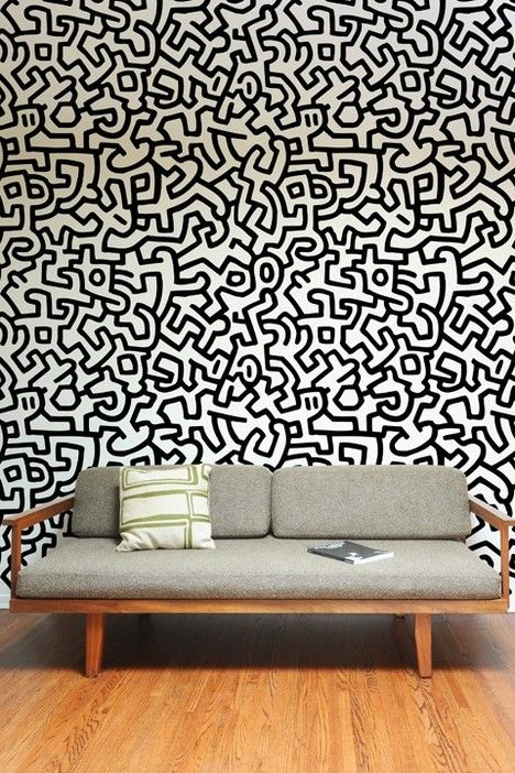 Adesivi Murali Keith Haring.Pin Di Alessandro Su Color Nel 2019 Pinterest Patterned Wall