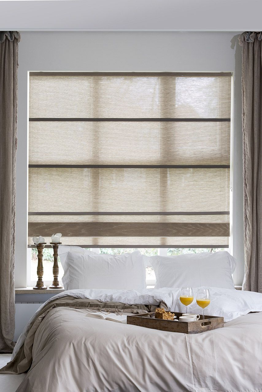Our Folds, roman blinds made from woven paper, match perfectly ...