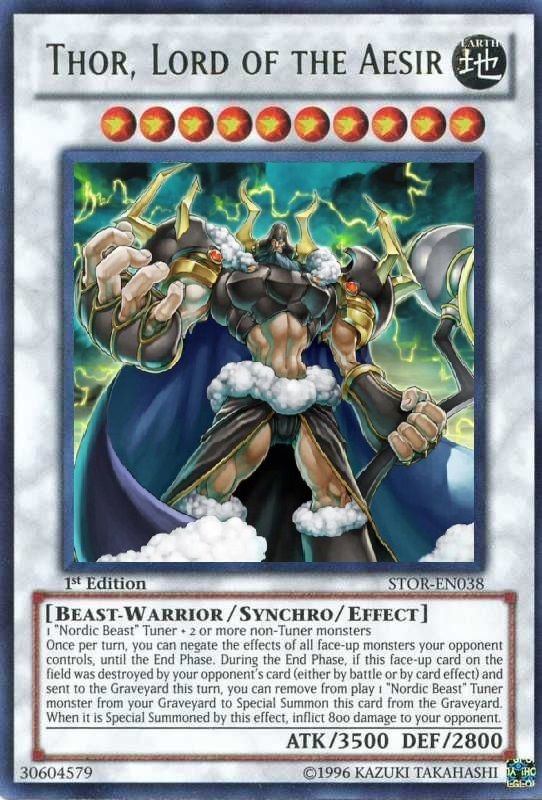 Thor, Lord of the Aesir | Yugioh, Cards, Yugioh monsters