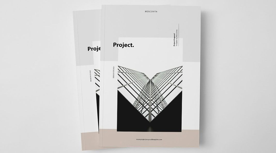 Another fine example of a well designed Adobe InDesign template The - project proposal example