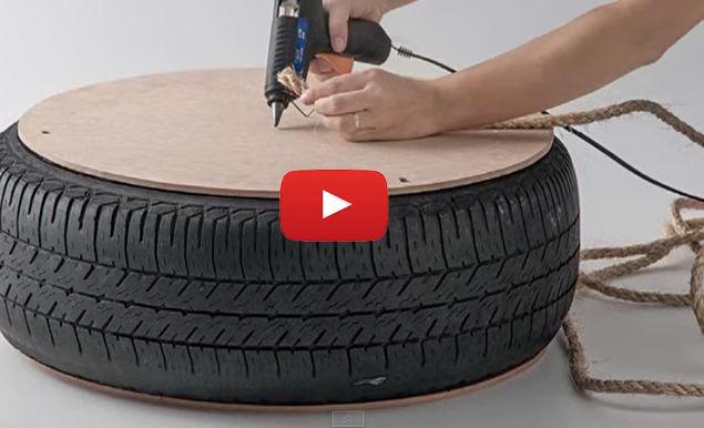 Asombrosos Asientos de neumáticos y madera. entra y disfruta de esta bella creatividad.