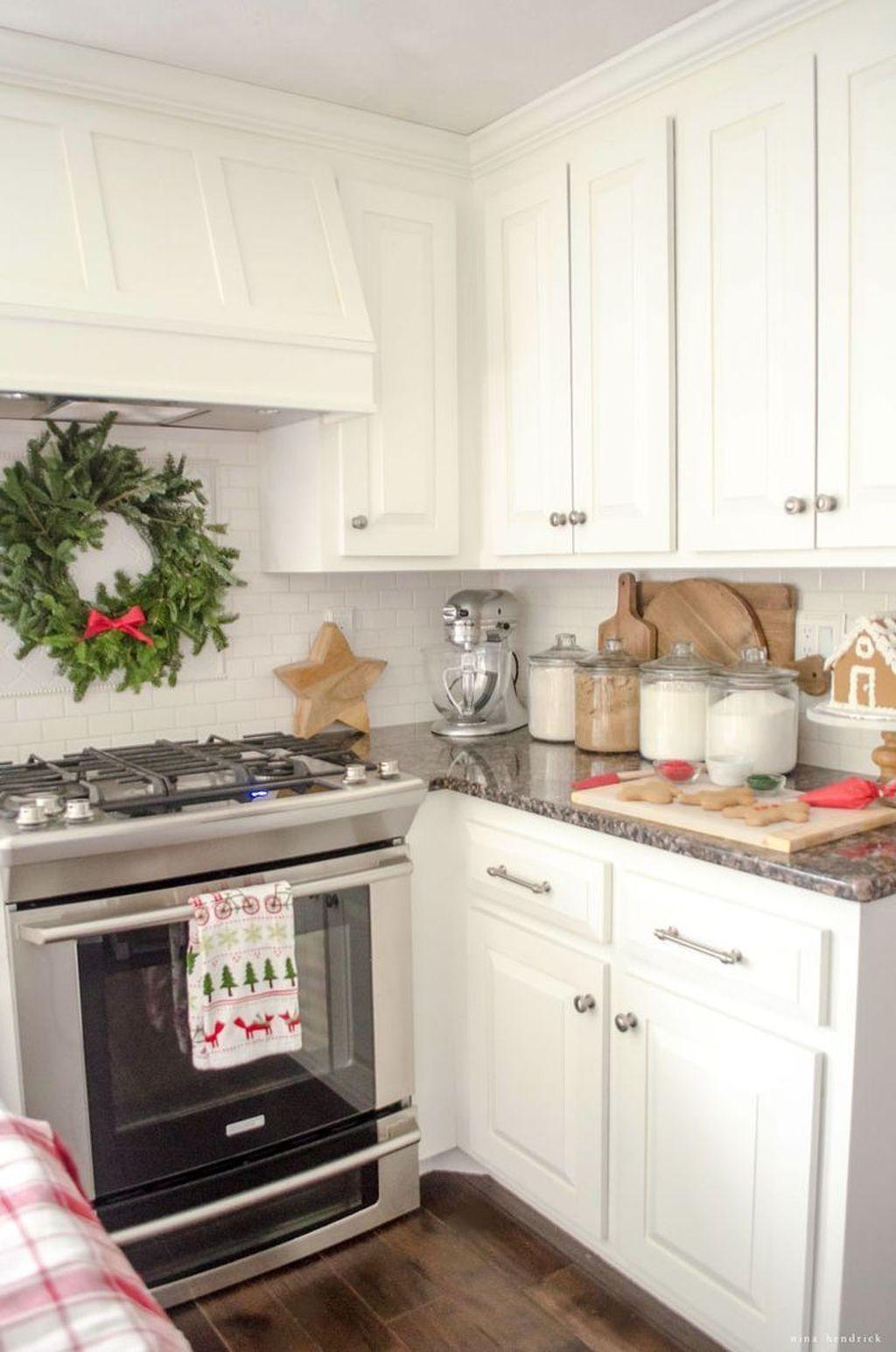 Window above kitchen sink   modern christmas kitchen decorating ideas  christmas kitchen
