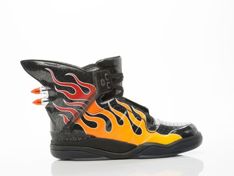 SHARK FLAME MENS BY ADIDAS X JEREMY SCOTT ($220) Man made upper, man