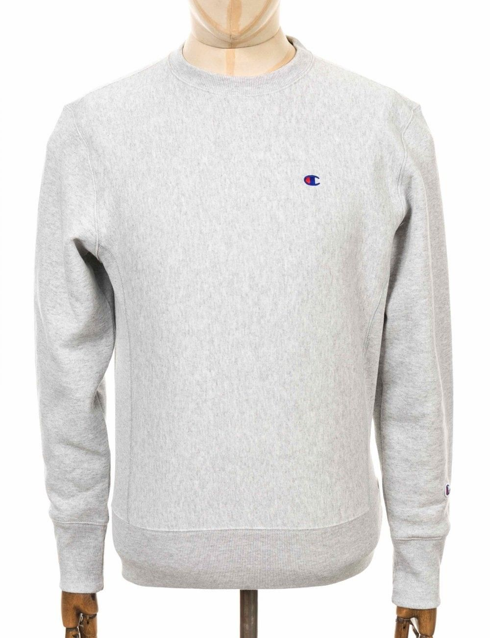 Champion Reverse Weave Crewneck Sweatshirt Loxgm Light Grey Colour Champion Cloth [ 1300 x 1000 Pixel ]