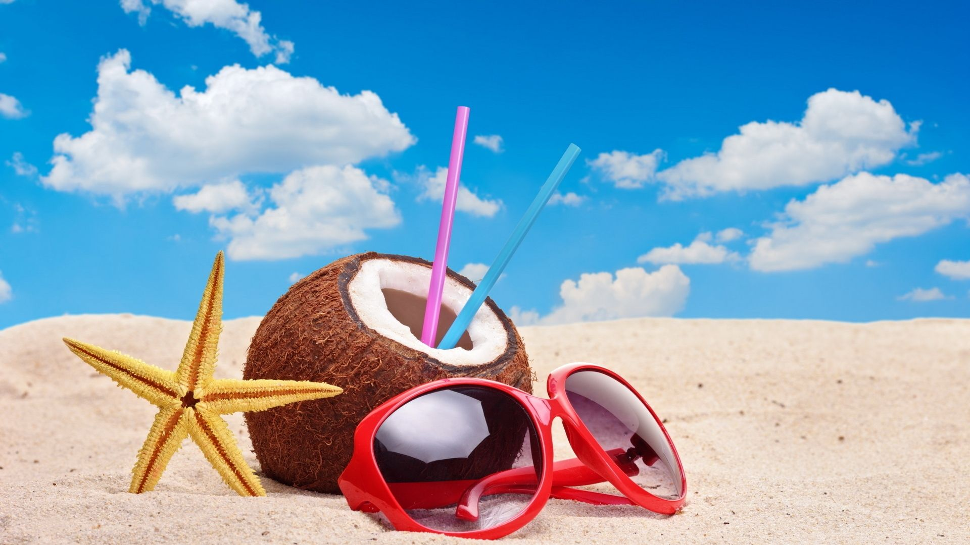 summer | colourful summer accessories wallpaper | hd desktop