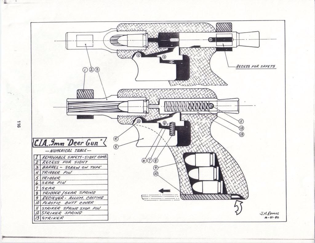 cia deer gun one shot pistol cutaway diagram science technology