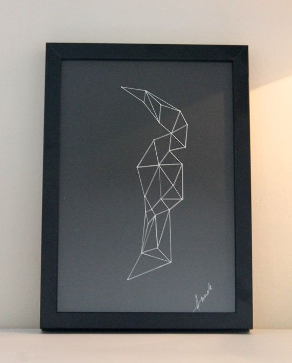 Artwork in a Black Frame  Graphics by AnnelesStudio on Etsy, £36.00