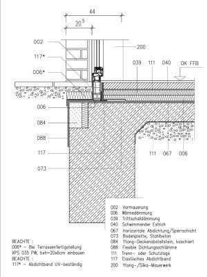 vertikalschnitt terrassent r entwurf iii schl sselloch pinterest terrassent r hauseingang. Black Bedroom Furniture Sets. Home Design Ideas
