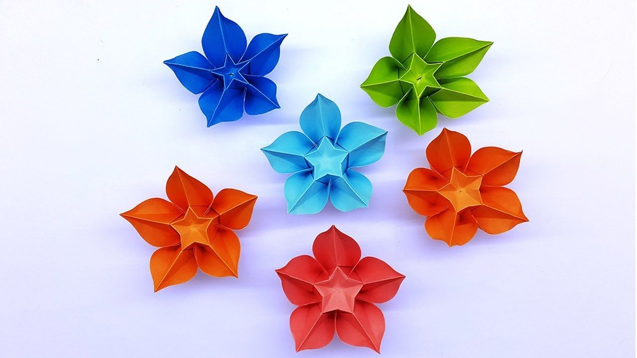 Carambola Flower Making Easy Origami Tutorial Diy Paper Crafts