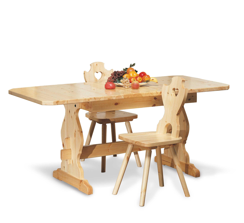 Tavolo rustico allungabile proposto in abinamento con sedie cuore - Dwg tavolo con sedie ...