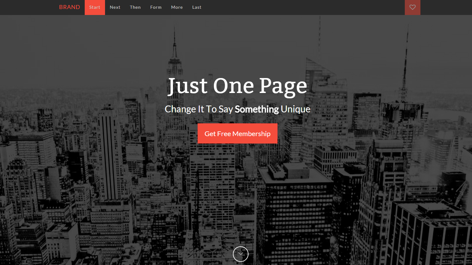 Just One Page Bootstrap Template | Freebies - Mock Ups | Pinterest ...