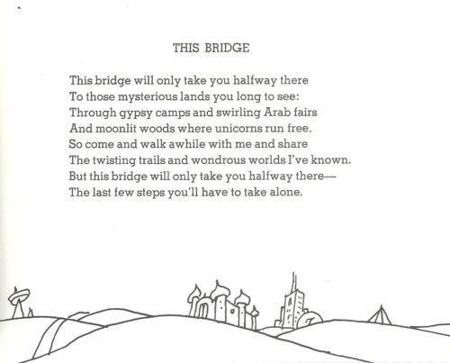 This Bridge On Tumblr Shel Silverstein Shel Silverstein Poems Silverstein